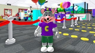 Playing Escape Chuck E. Cheese Obby Roblox (New)