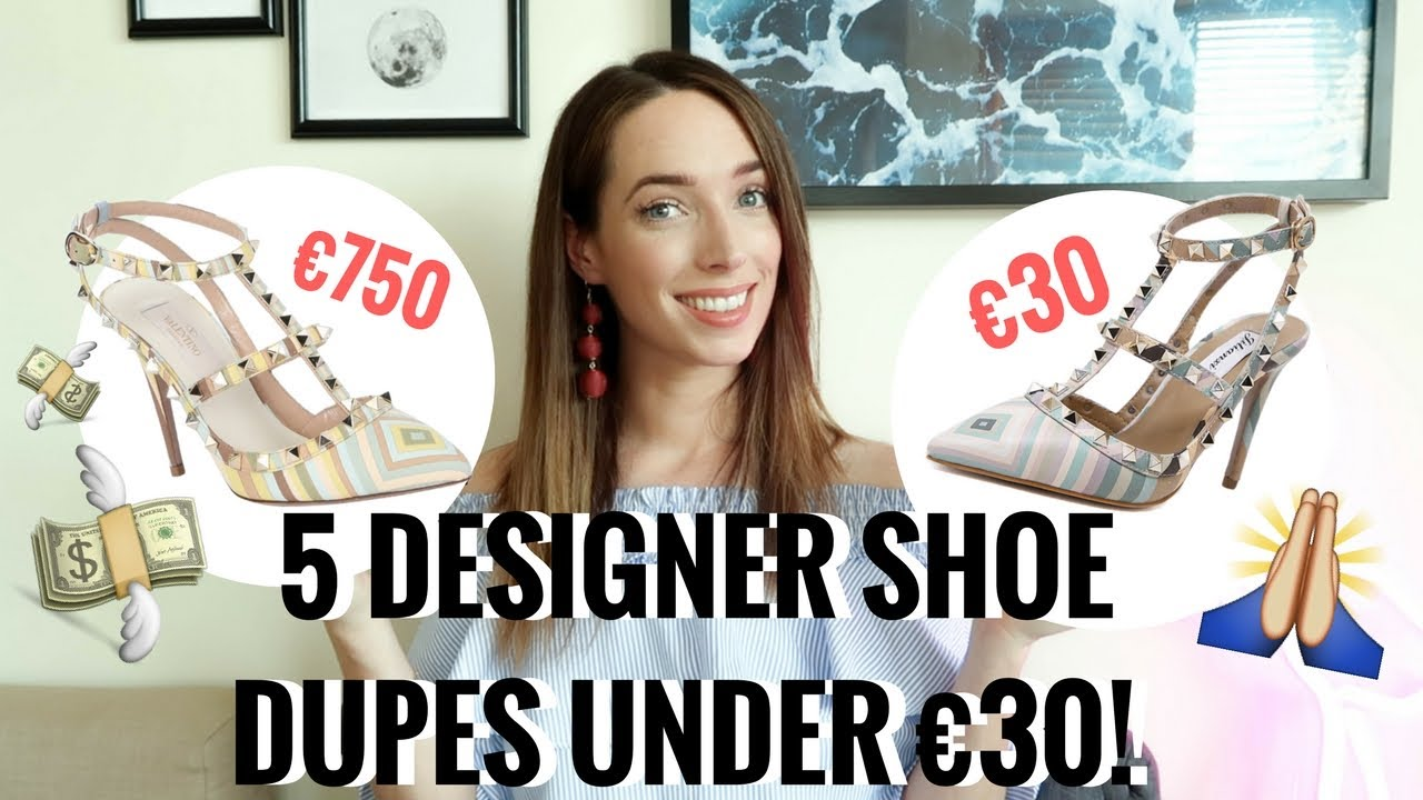 5 DESIGNER SHOE DUPES UNDER €30! 👠 👡  CHANEL, DIOR, VALENTINO, GUCCI & MORE | CIARA O DOHERTY