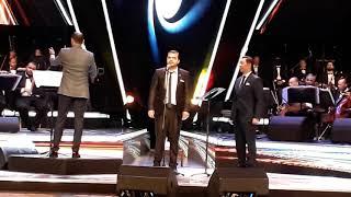 مدحت صالح يقدم ابراهيم رمضان في حفل الاوبرا 2\11\2019 تحميل MP3