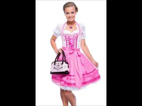 Krüger MADL Damen Mini Dirndl Kleid rosa kurz