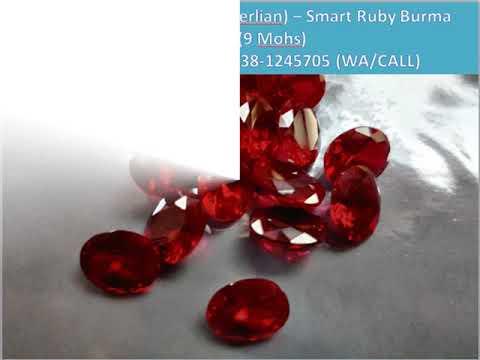 62838-1245705, Jual batu permata (smart berlian) batu ruby burma 5.5 Crat Jakarta selatan