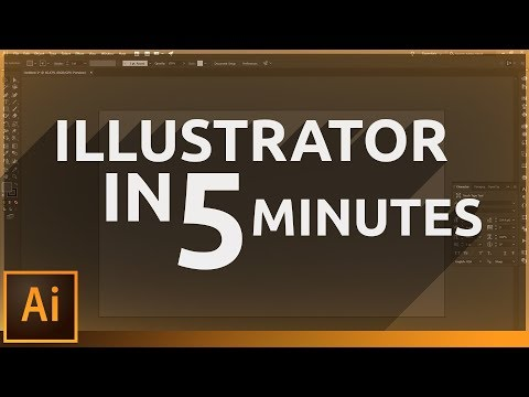 Learn Illustrator in 5 MINUTES! Beginner Tutorial