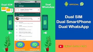 How to use Two Whatsapp Accounts in One Smartphone || Dual Sim Dual WhatsApp in Android