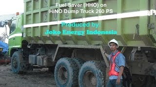 preview picture of video 'Fuel Saver (HHO) on HINO Dump Truck 260 PS'