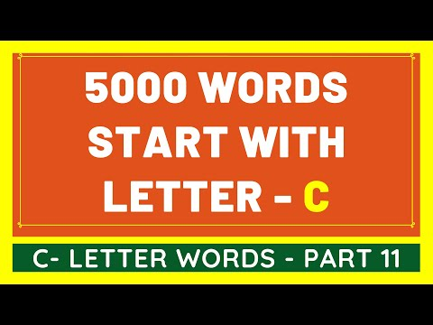 5000 Words That Start With C #11 | List of 5000 Words Beginning With C Letter [VIDEO]