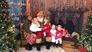 THE GIRLS MEET THE REAL SANTA CLAUS