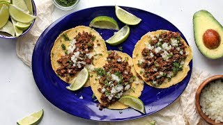How To Make Authentic Street Tacos With Homemade Tortillas | The Inspired Home