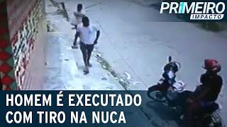 Açougueiro é assassinado com tiro na nuca   Primeiro Impacto (29/12/20)
