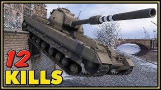FV215b - 12 Kills - 2 VS 7 - World of Tanks Gameplay