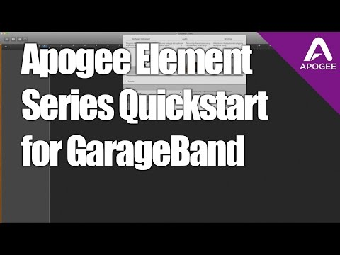 How to Setup Apogee Element Audio Interfaces with GarageBand