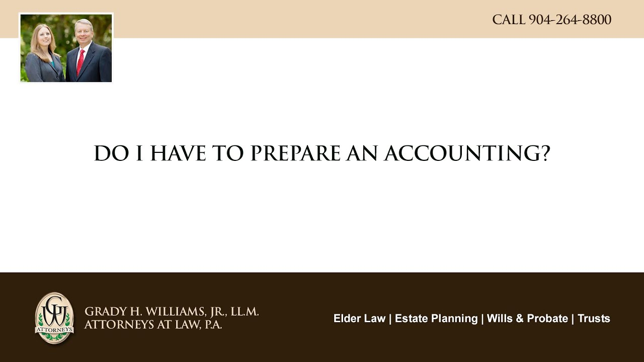 Video - Do I have to prepare an accounting?