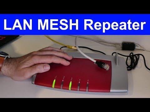 Fritz!Box als MESH WLAN Repeater über Kabel (LAN) einrichten