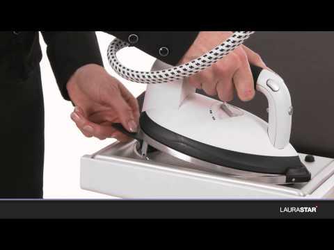 Laurastar - So verwenden Sie die Schutzsohle Ihres Bügeleisens richtig
