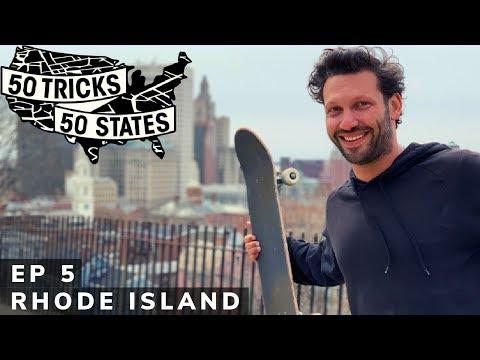 50 Tricks 50 States Skateboarding Challenge   Episode #5   Rhode Island