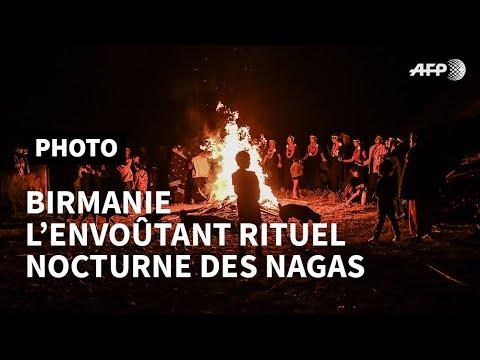 En Birmanie, l'envoûtant rituel nocturne des Nagas   AFP Photo En Birmanie, l'envoûtant rituel nocturne des Nagas   AFP Photo