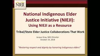 Tribal/State Elder Justice Collaborations That Work