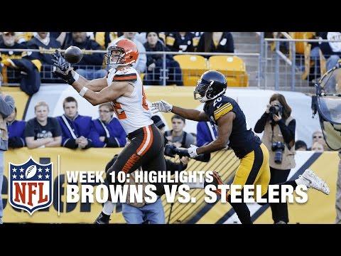 Browns vs. Steelers   Week 10 Highlights   NFL