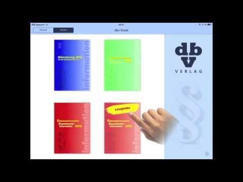dbv Kiosk App - Anleitung