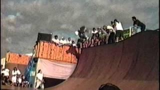 Chris Miller - 1989 Vans NSA vert skateboarding contest