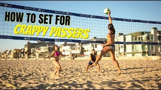 Beach Volleyball Tutorial: How to Set for Crappy Passers + 2019 Atlantic City Big Shots Match