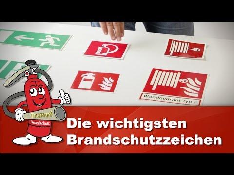 ISO 7010 Brandschutzzeichen: Feuerlöscher & Notausgangs-Schilder nach asr a1.3 und bgv a8