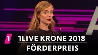1LIVE Krone Förderpreis Für Amilli | 1LIVE Krone 2018