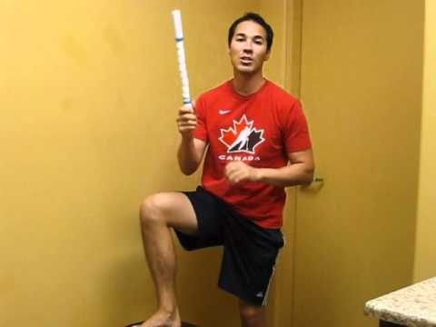Calf Stretches – Stick Roll
