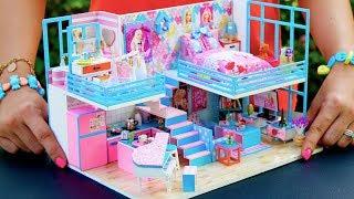 5 DIY Miniature Dollhouse Rooms Barbie