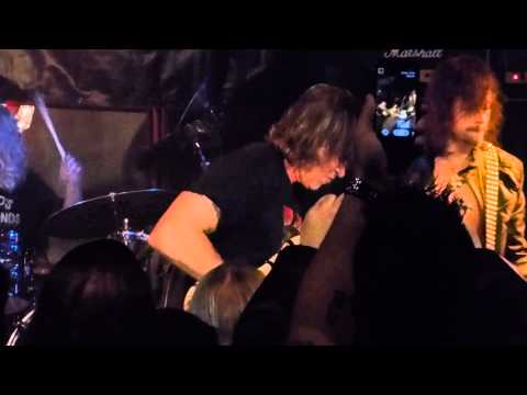 "FanCam of Sinners w/George Lynch (Dokken, Lynch Mob) ""Mr. Scary"". Notice I'm reading a chart."