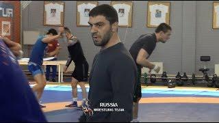 Тренировка сборной России по вольной борьбе, подготовка к чемпионату Европы