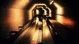 preview picture of video 'Beautiful Underground Tunnel Train in Zürich Airport'