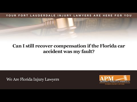 Can I Still Recover Compensation if the Florida Car Accident was my Fault?