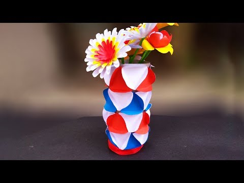 Download How To Make Color Paper Flower Vase Simple And Easy Paper