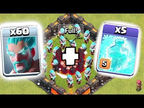 Video NEW ICE WIZARD + 5 FREEZE SPELLS!!! ???? Clash of clans Clashmas update