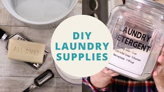 Make Your Own Laundry Detergent, Dryer Sheets + Fabric Freshener