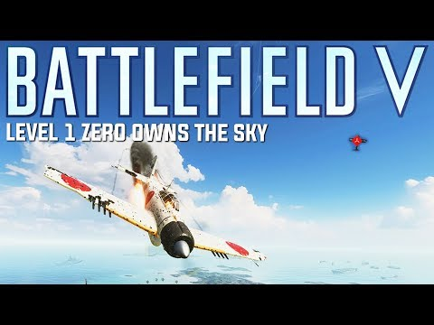 Controlling the skies in my Japanese Zero -  Battlefield V Pacific