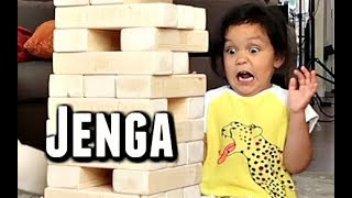 The most INTENSE game of Jenga -  ItsJudysLife Vlogs