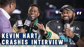 Kevin Hart Crashes Fletcher Cox's Post Super Bowl LII Interview... And It's Hilarious!