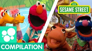 Sesame Street: Elmo's Ducks, Old MacDonald, and more clips about animals!   Animals Compilation