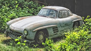 Abandoned Mercedes Benz 300SL Gullwing. Mercedes Found which stood in an ordinary barn for 53 years!