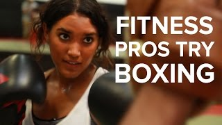 Fitness Pros Try Boxing