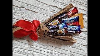 Сладкий подарок из конфет своими руками DIY Mellas // Sweet Candy Bouquet DIY Mellas
