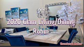 2020 Glam Living /Dining Room Tour