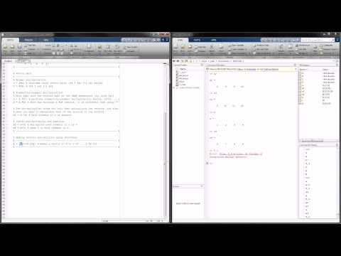 MATLAB Tutorial 2 – Creating Matrices and Matrix Math