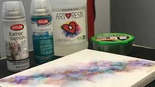 [60] How To Seal, Mount, And Resin Your Alcohol Ink Painting