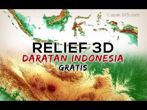 Data Relief Daratan Seluruh Indonesia Gratis