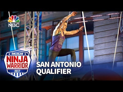 Barclay Stockett at the San Antonio Qualifiers - American Ninja Warrior 2017