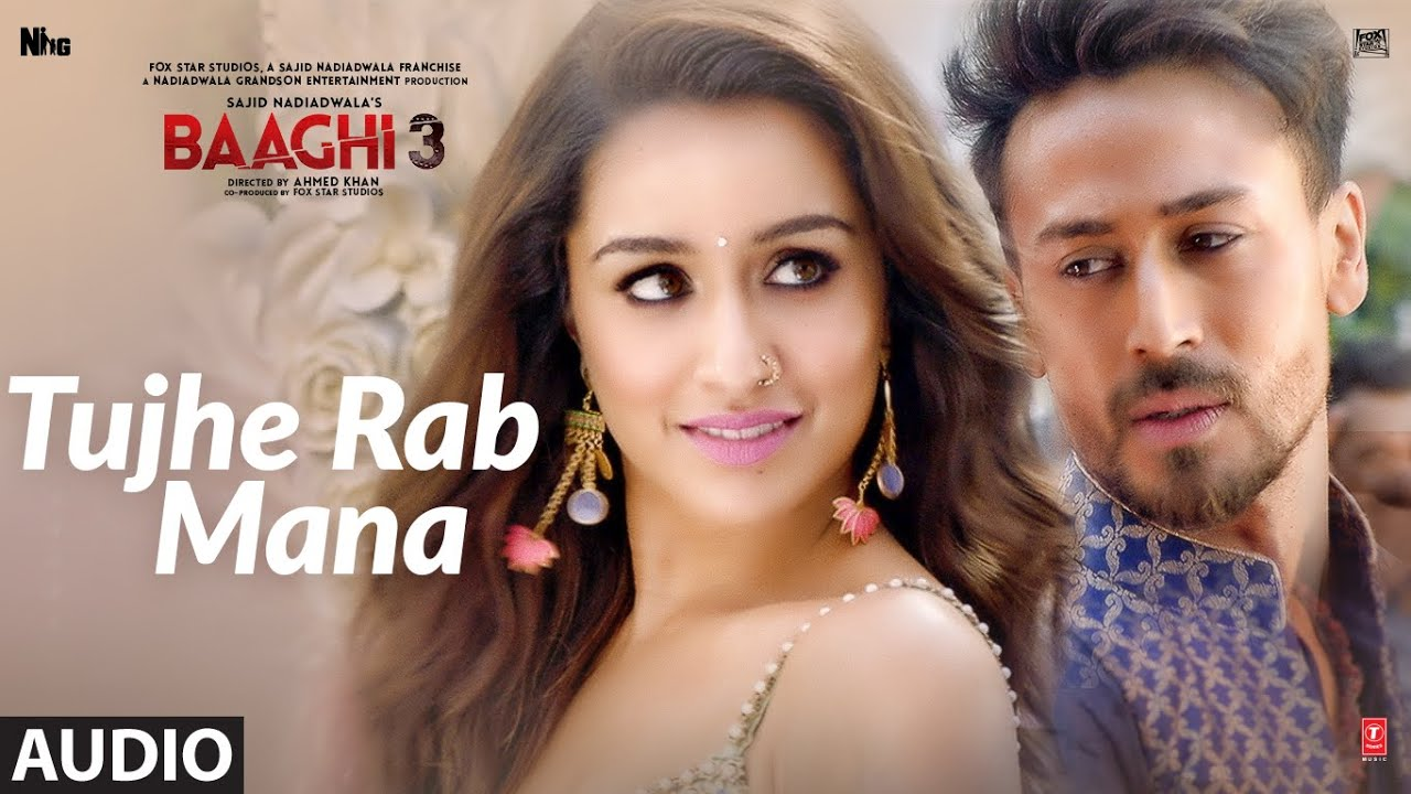 तुझे रब माना Tujhe Rab Mana Lyrics in Hindi - Baaghi 3 - Rochak Kohli, Shaan
