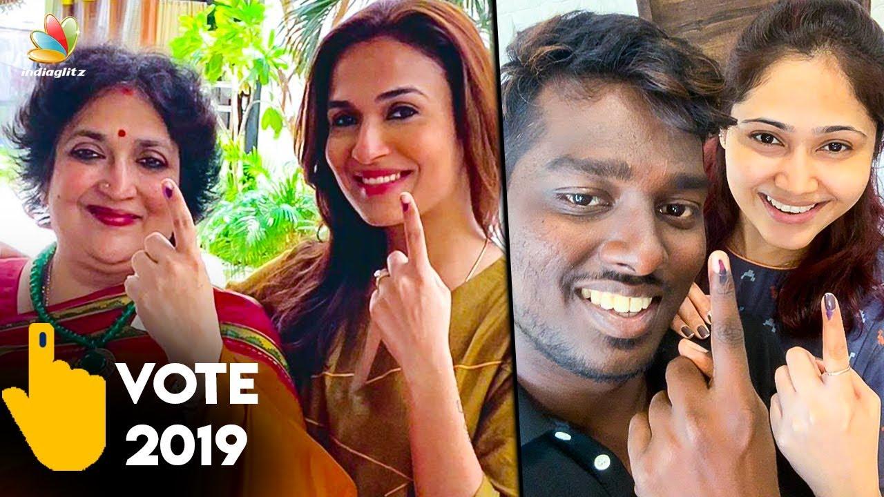 Soundarya Rajinikanth & Priya Atlee Casted their Votes | Lok Sabha Elections 2019