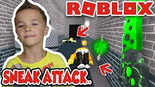 SNEAK ATTACK On DAD! In ROBLOX MURDER MYSTERY 2 | DADDY HAVING A BAD DAY